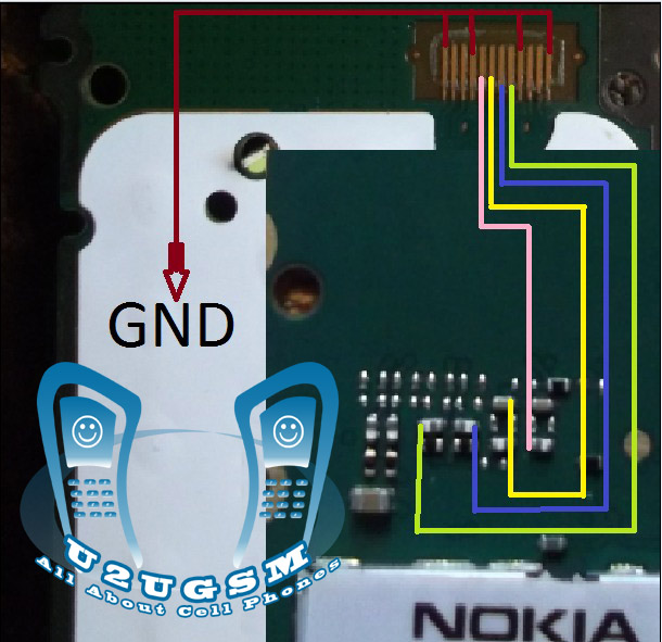 nokia 105 white lcd light problem