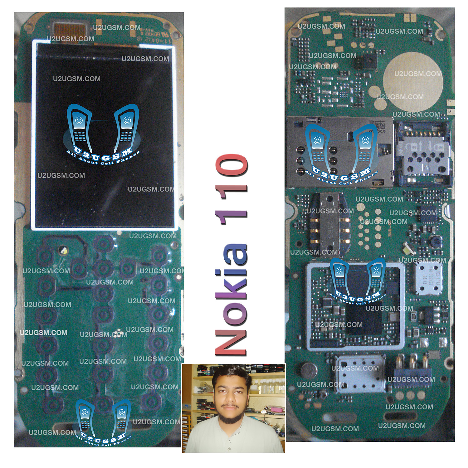 Nokia 105 Full PCB    Diagram    Mother Board Layout