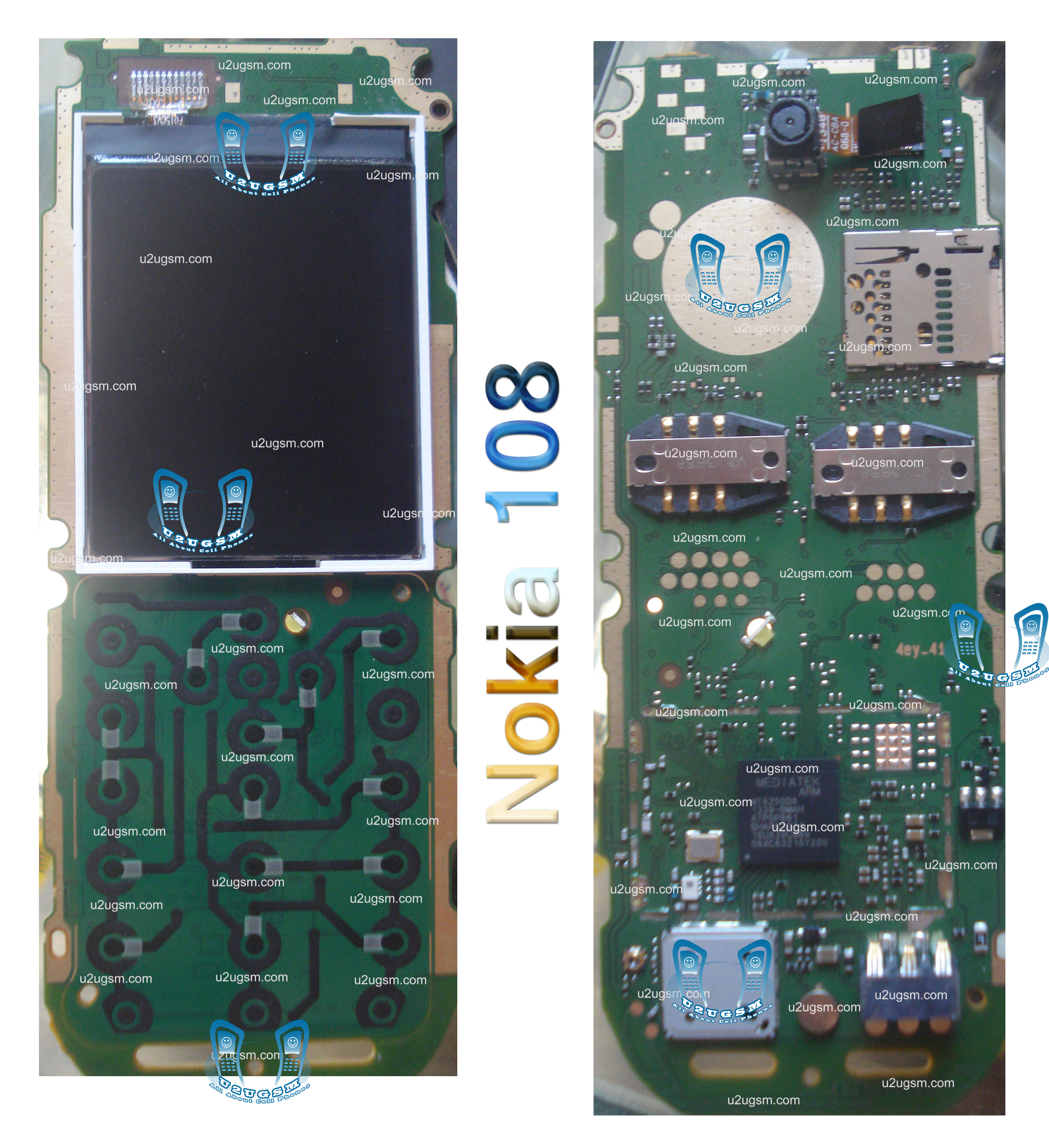 Nokia 108 Full Pcb Diagram Mother Board Layout