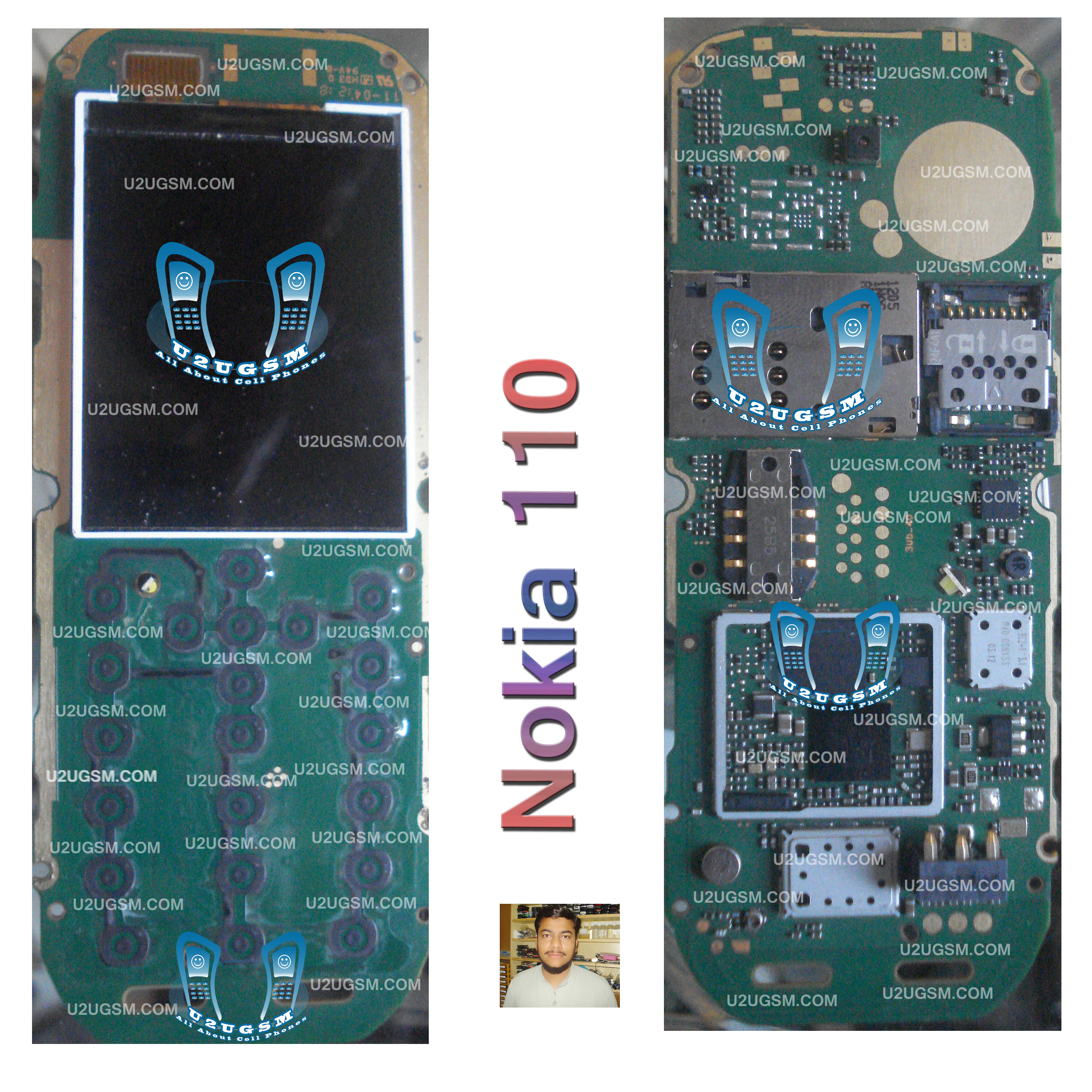 Nokia 110 Full Pcb Diagram Mother Board Layout