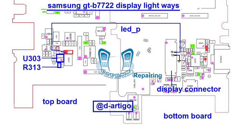 Samsung B7722 Lcd Display Light Ic Solution Jumper Problem