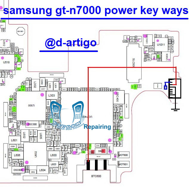 Samsung Galaxy Note N7000 Power On Off Key Button Switch