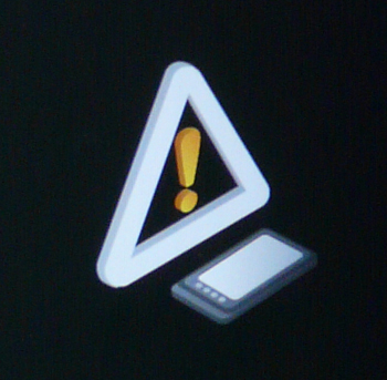 Android yellow triangle thermometer