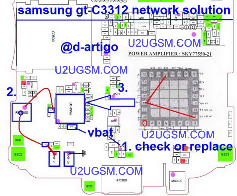 Samsung C3312 Duos Network No Signals Solution Pa Jumpers