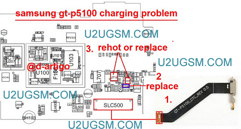 Samsung Galaxy Tab 2 10.1 P5100 Charging Solution Jumper Problem Ways Charging Not Supported
