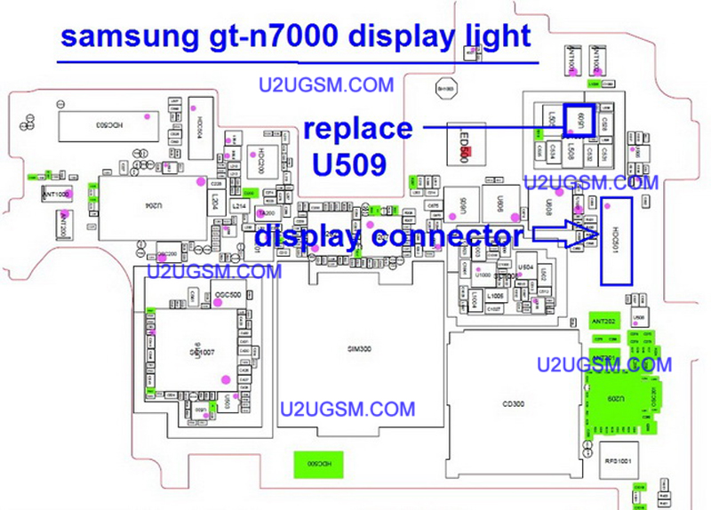 Samsung Galaxy Note N7000 Lcd Display Light Ic Solution