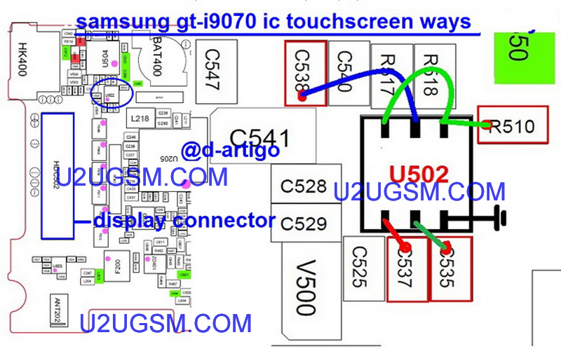 Samsung I9070 Galaxy S Advance Touch screen Not Working Problem Solution Jumper Ways