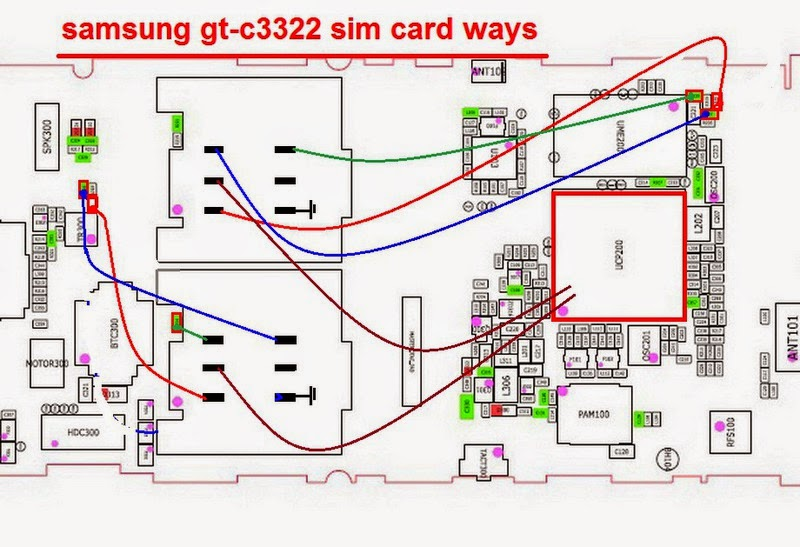 How to Fix Samsung C3322 can not read sim card