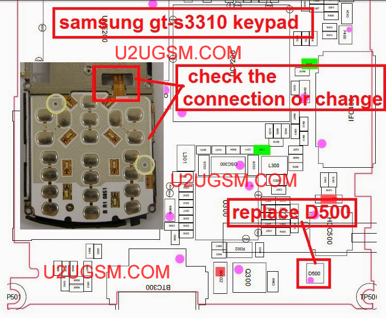 How to Fix Samsung GT-S3310 Keypad problematic