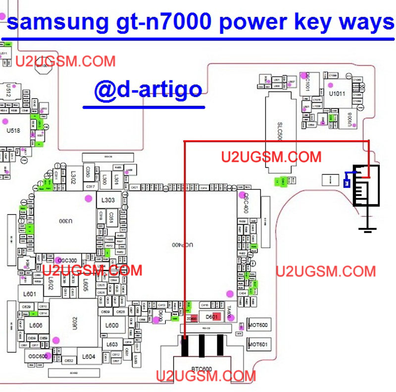 Samsung Note N7000 Power Key Button Jumper Solution
