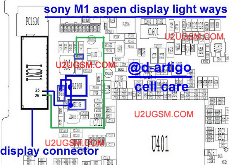Sony Xperia M1 Aspen Lcd Display Light Ic Solution Jumper