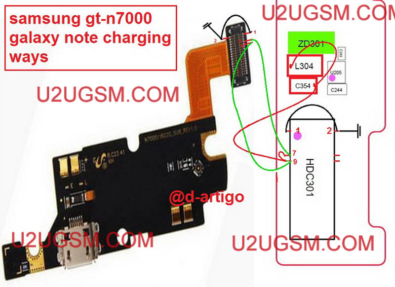 Samsung Galaxy Note N7000 Charging Problem Solution Charging Jumper