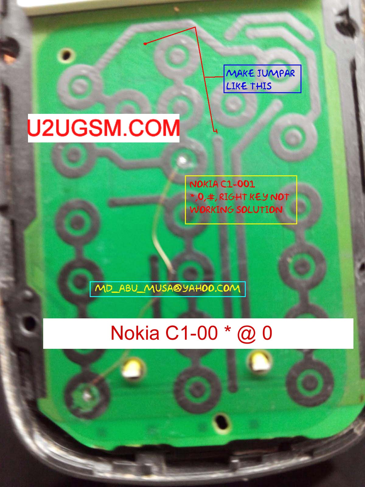 Nokia C101  0 # menu keys not working 100 tested jumpers solution