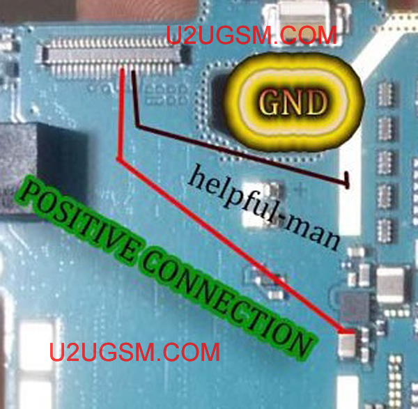 Samsung Galaxy Young 2 SM-G130H LCD Display Light IC Solution Jumper Problem Ways