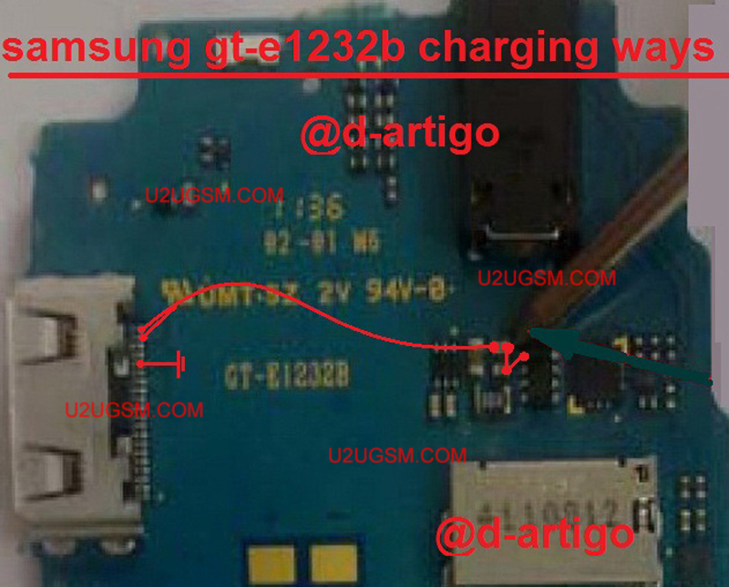 Samsung E1232B Charging Solution Jumper Problem Ways Charging Not Supported