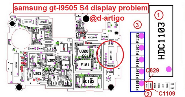 Samsung I9505 Galaxy S4 Display Light Solution Jumper Problem Ways