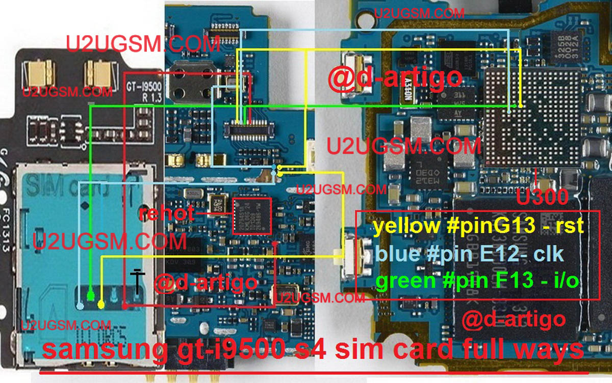 Samsung Galaxy S4 I9500 Insert Sim IC Solution Jumper