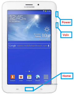 Samsung Galaxy Tab 3 V Restore Factory Hard Reset Remove Pattern Lock