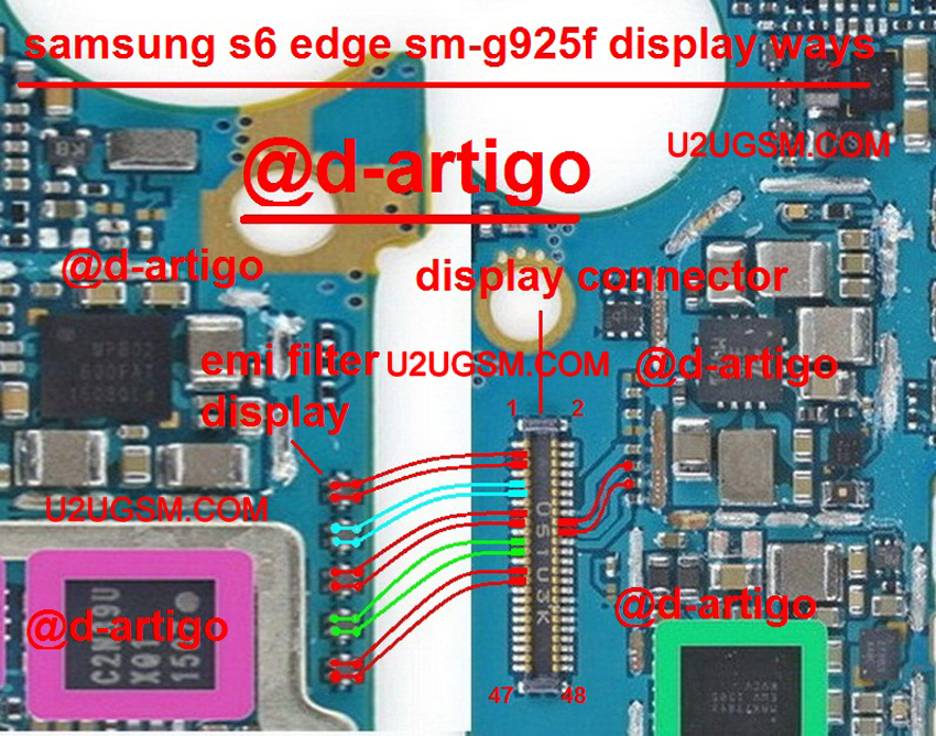Samsung Galaxy S6 Edge Lcd Display Ic Solution Jumper