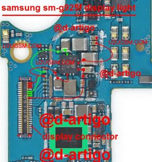 Samsung Galaxy S6 Edge LCD Display Light IC Solution Jumper Problem Ways