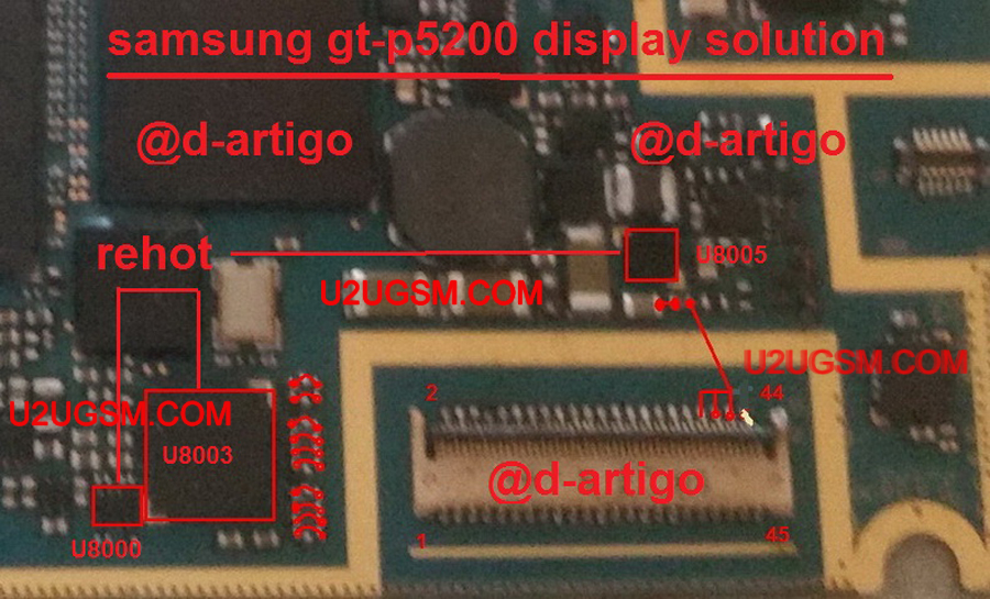 Samsung Galaxy Tab 3 P5200 LCD Display Light IC Solution Jumper Problem Ways