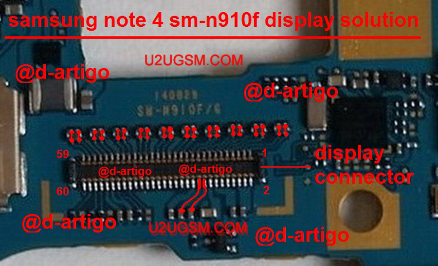 Samsung Galaxy Note 4 LCD Display IC Solution Jumper Problem Ways