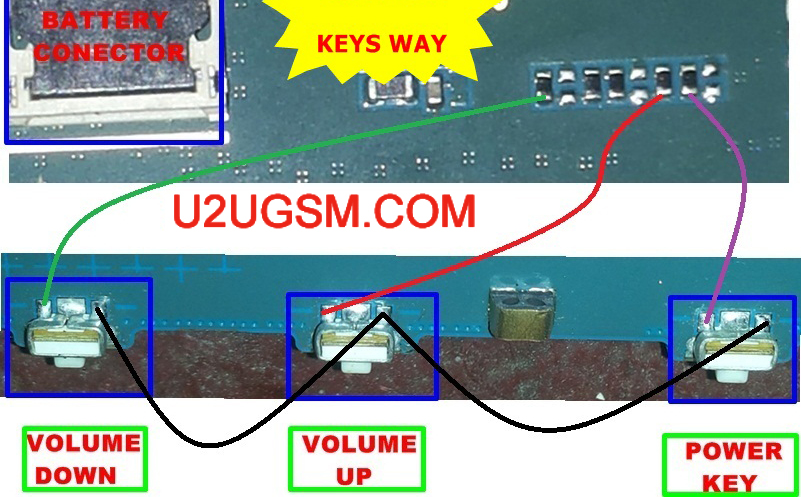 Galaxy Tab SM T Power On Off Key Button Switch Jumper Ways - 4 way switch does not work