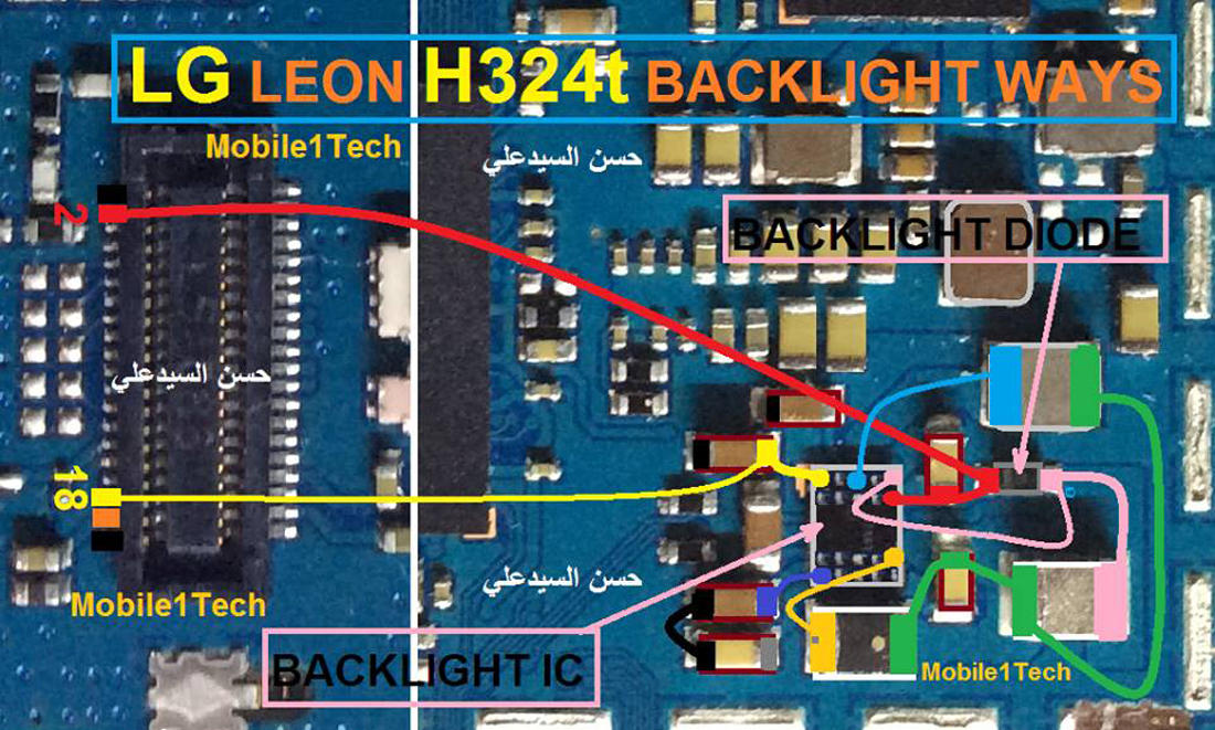 LG Leon H324T LCD Display Light IC Solution Jumper Problem Ways