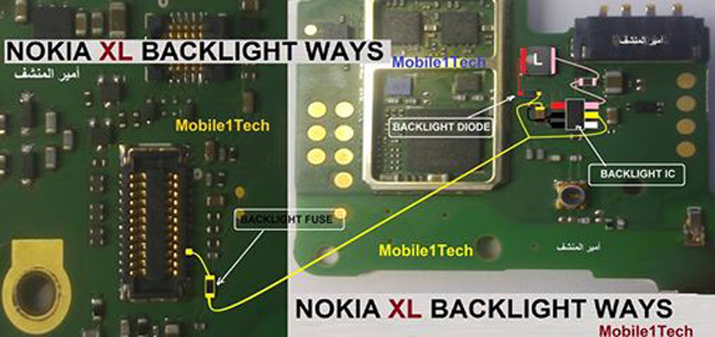 Nokia XL LCD Display Light IC Solution Jumper Problem Ways