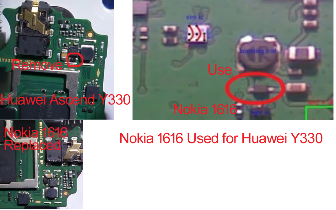 Huawei Ascend Y330 Display Light Solution Using Nokia 1616 Light Parts