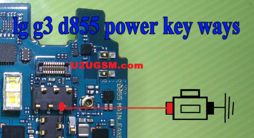 LG G3 D855 Power On Off Key Button Switch Jumper Ways