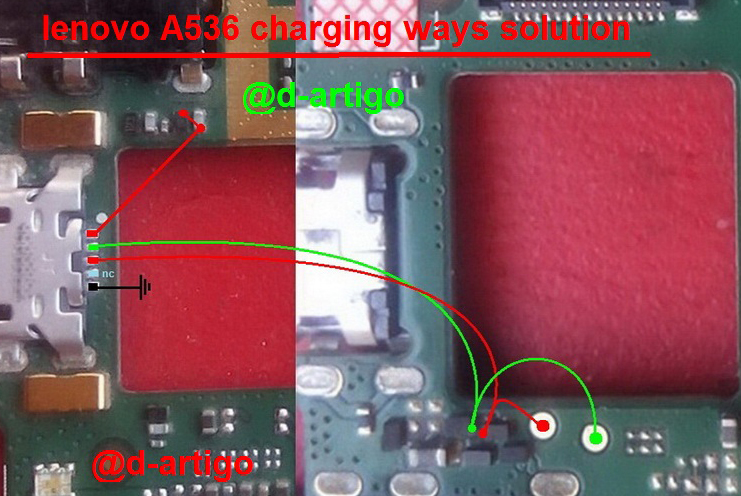 Lenovo A536 Charging Problem Solution Jumper Ways