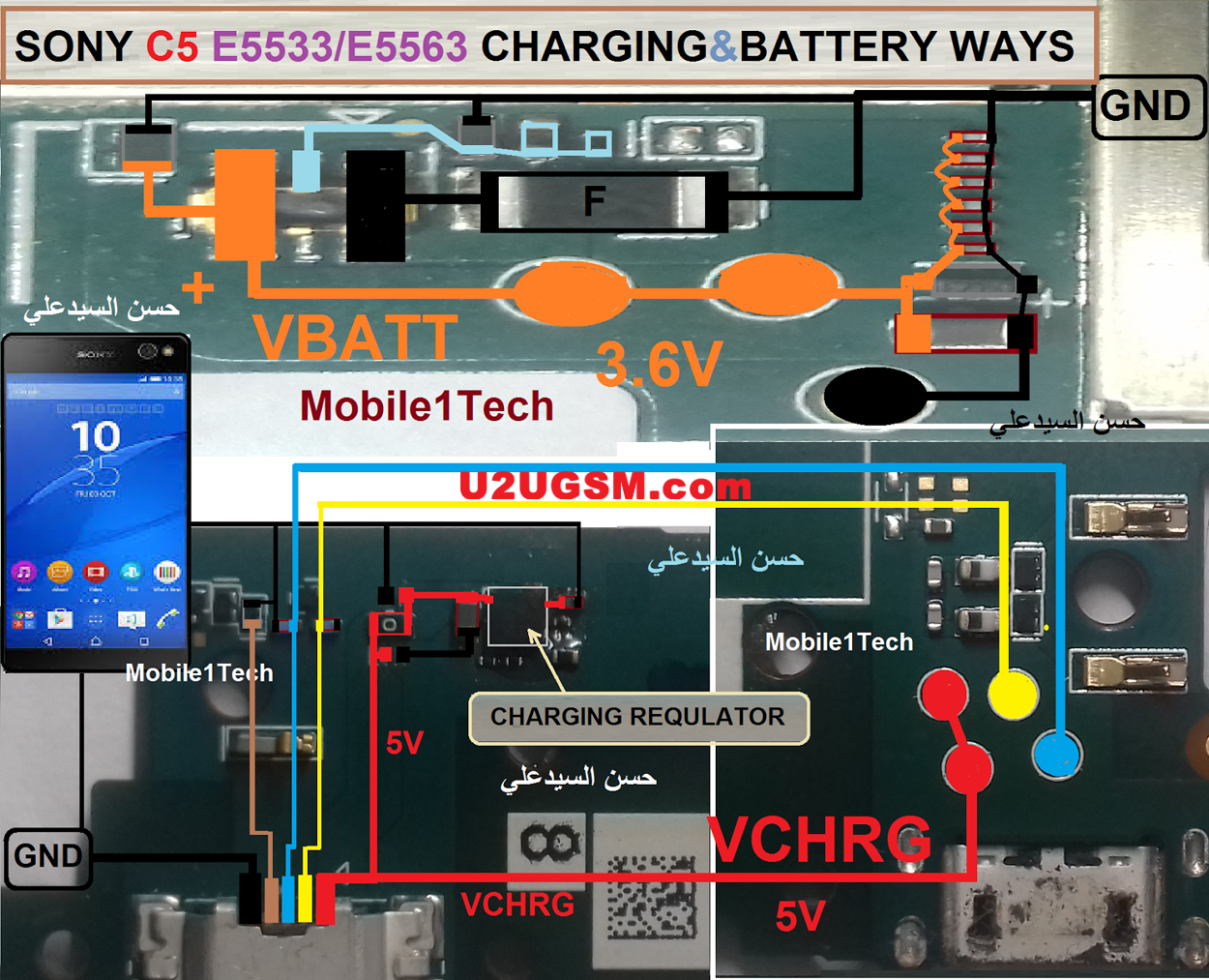 Sony Xperia C5 Ultra Charging Problem Solution Jumper Ways