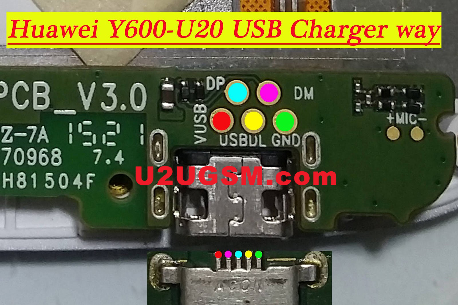 Huawei Ascend Y600 Usb Charging Problem Solution Jumper Ways