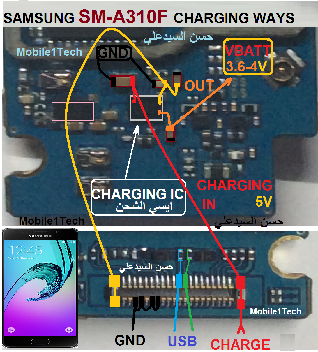 Samsung Galaxy A3 2016 A310 Usb Charging Problem Solution Jumper Ways