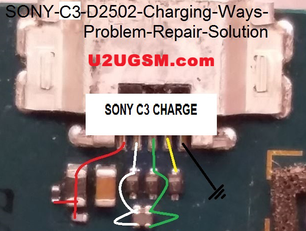 Sony Xperia C3 D2502 Usb Charging Problem Solution Jumper Ways