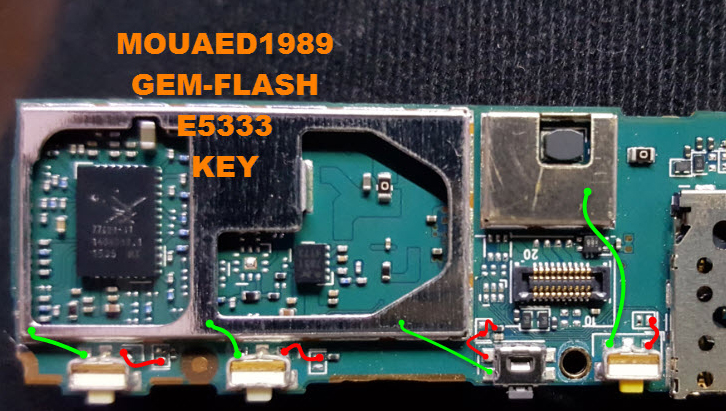 Sony C4 E5333  Voluem Up Down Keys Not Working Problem Solution Jumpers