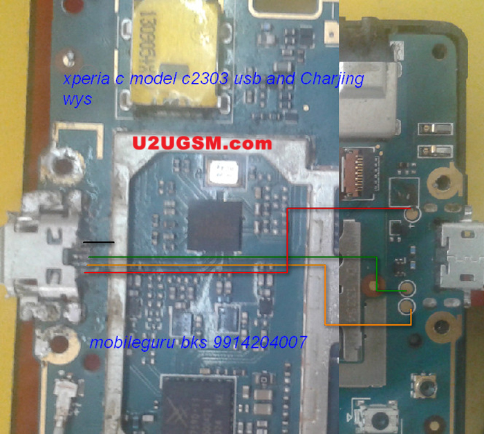 Sony Xperia C C2305 Charging Problem Solution Jumper Ways