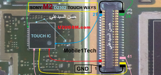 Sony Xperia M2 D2302 touch screen not working problem solution jumpers