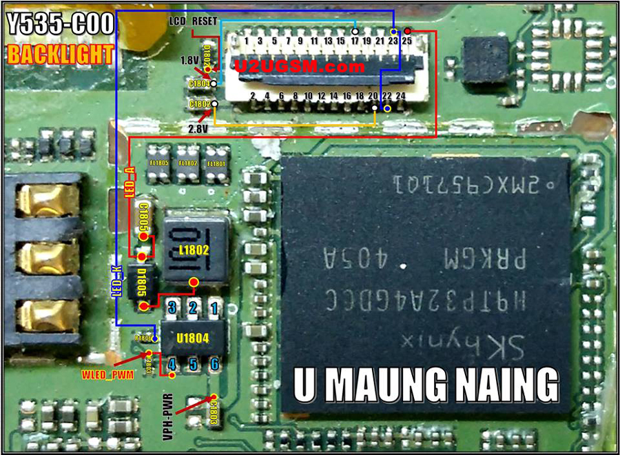 Huawei Ascend Y535 Display Light Solution