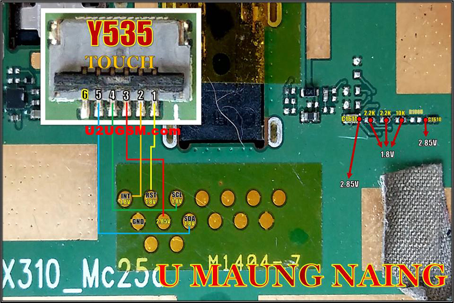 Huawei Ascend Y535 touch screen not working problem solution jumpers