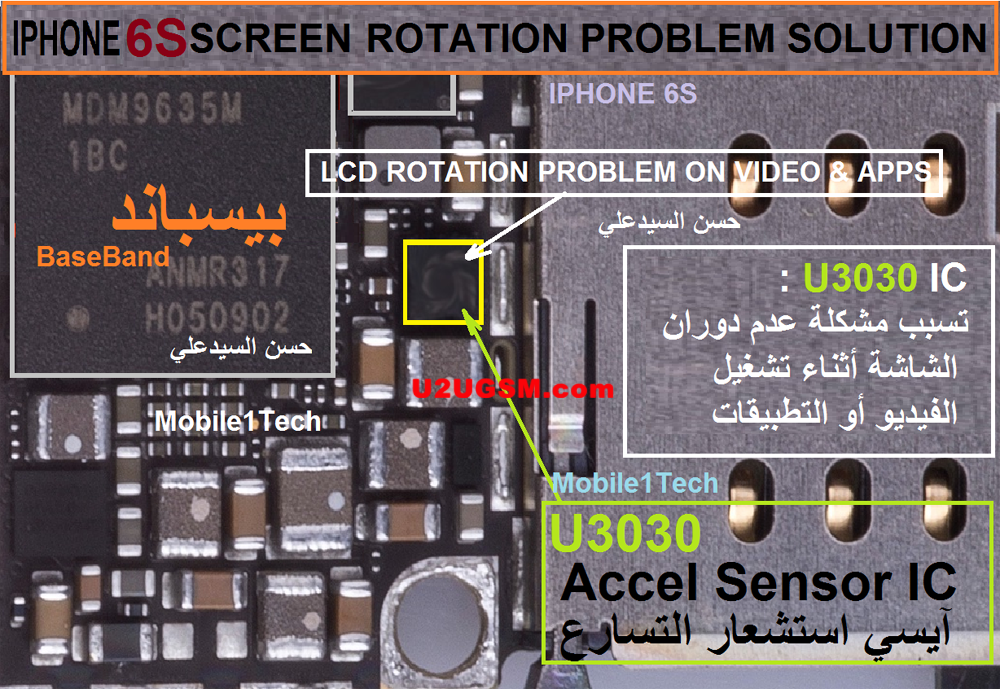 iPhone 6S Rotation Problem Solution Fixed