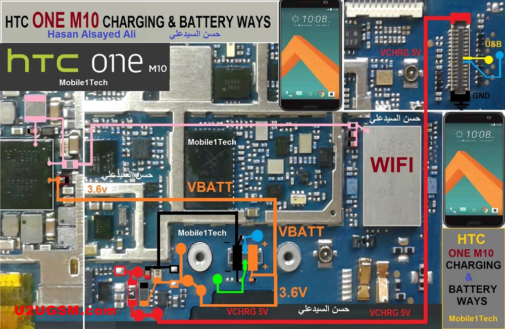 HTC One M10 Charging Problem Solution Jumper Ways No Charging