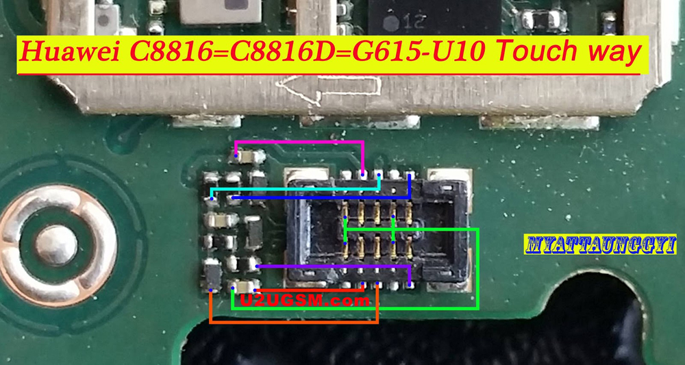 Huawei Ascend G615 touch screen not working problem solution jumpers