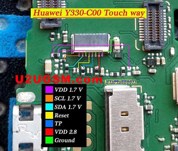 Huawei Ascend Y330 touch screen not working problem solution jumpers