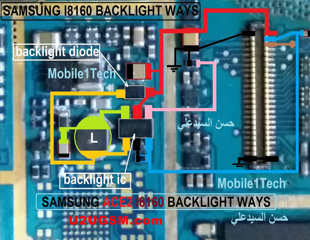 Samsung Galaxy Ace 2 I8160 Display Light Solution