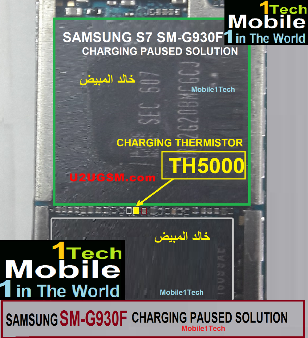 Samsung Galaxy S7 G930 Charging Paused Solution Jumpers