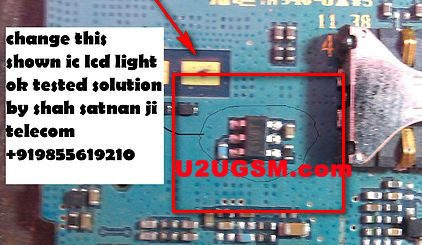 Samsung E2232 Cell Phone Screen Repair Light Problem Solution Jumper Ways