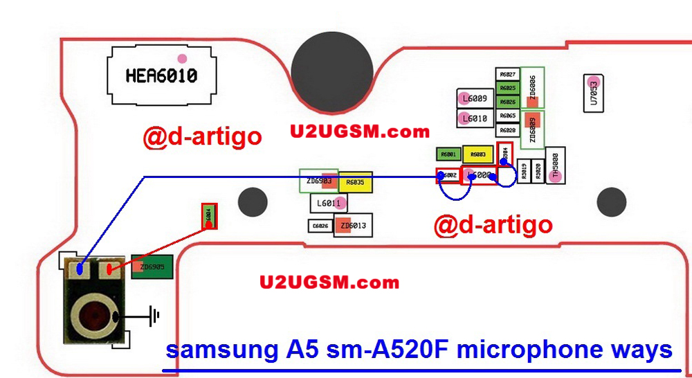 Samsung Galaxy A5 2017  Mic Solution Jumper Problem Ways Microphone