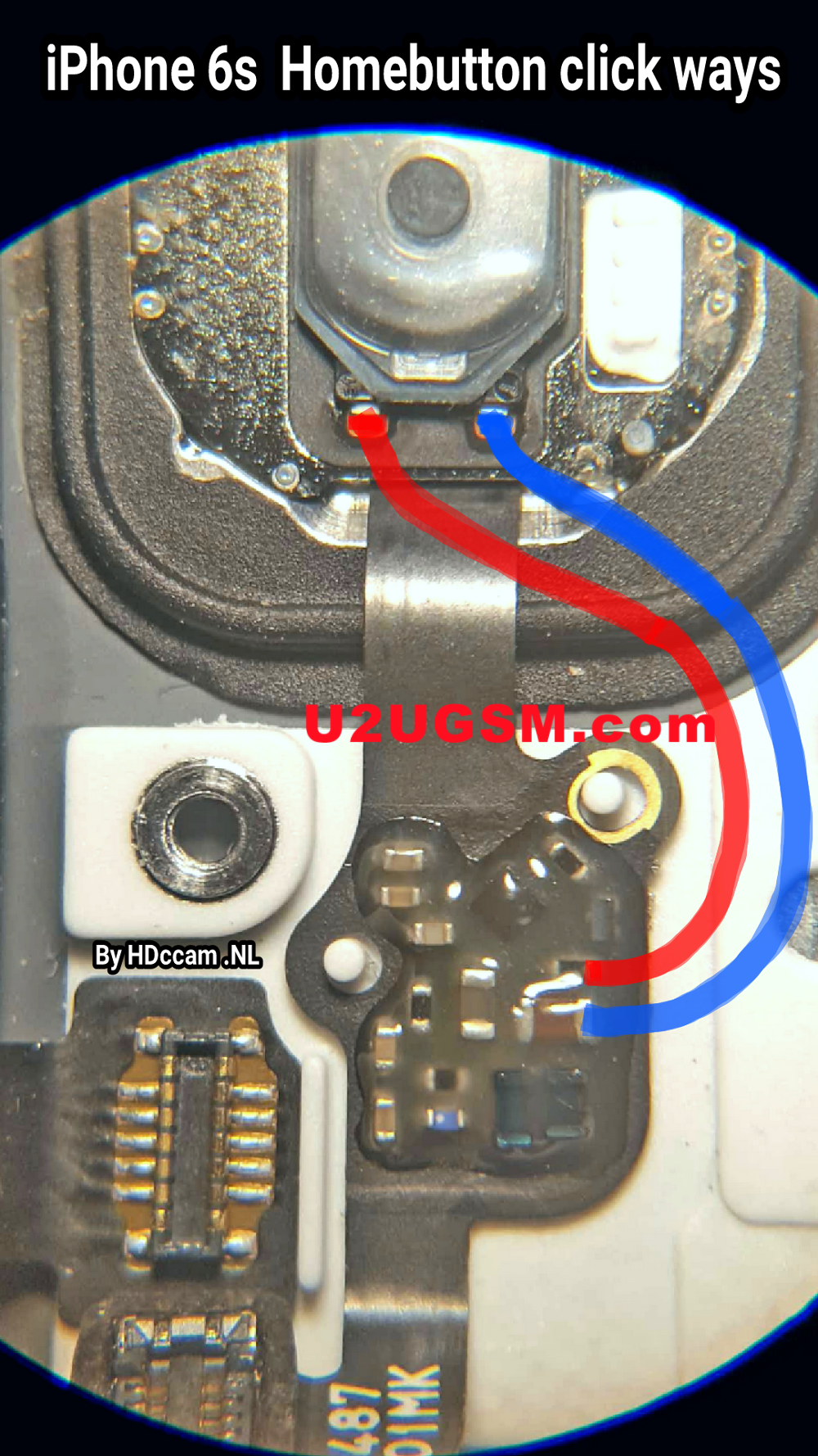 iPhone 6S Home Key Button Not Working Problem Solution Jumper